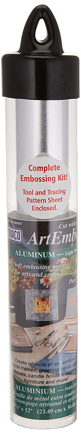 Amaco 50067S ArtEmboss Pure Metal Sheet, 9-1/4-Inch by 12-Inch, Aluminum/Medium Weight