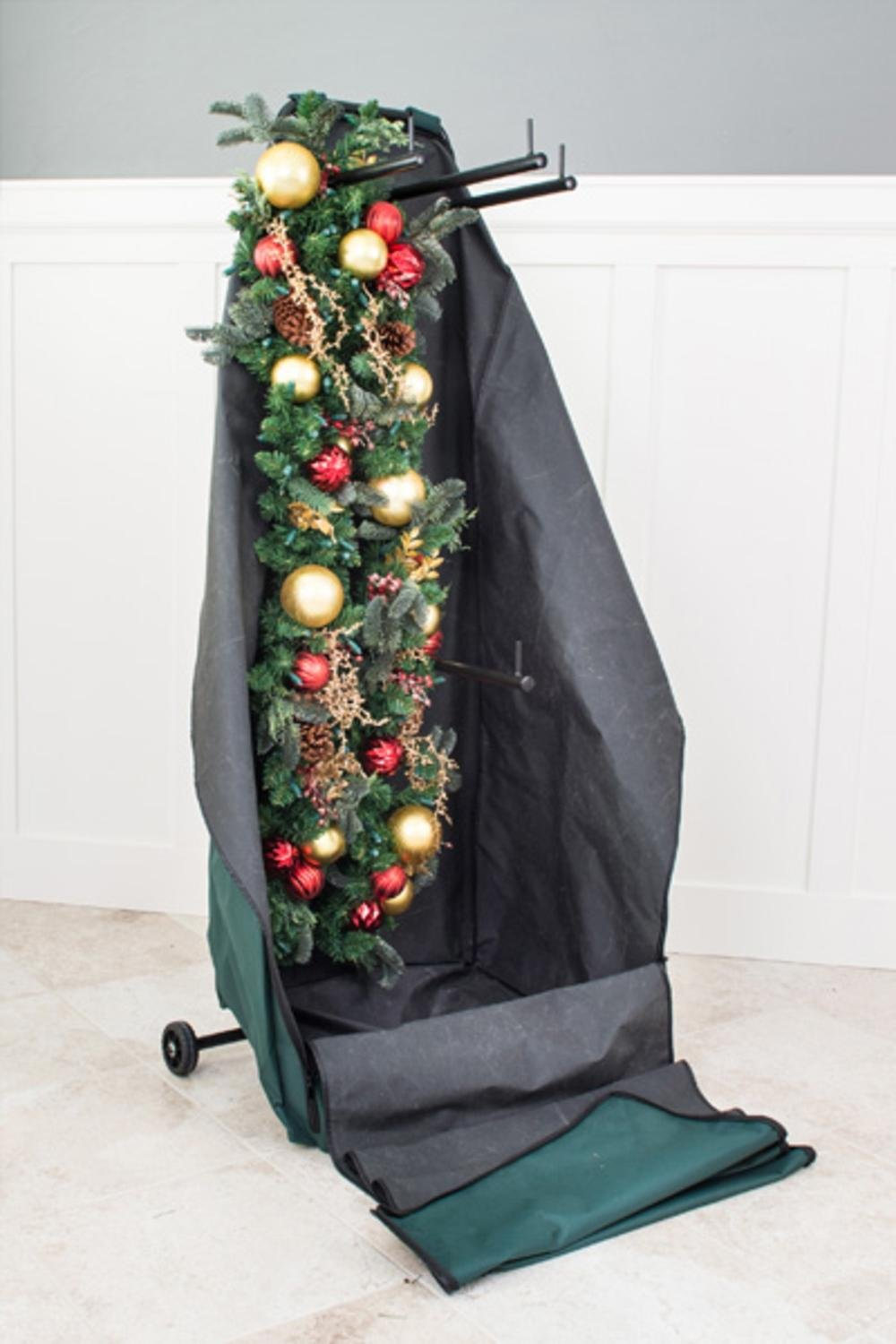TreeKeeper Christmas Garland/Wreath Protective Deluxe Rolling Storage Bag which Holds 4 Large Garlands and 2 Wreaths