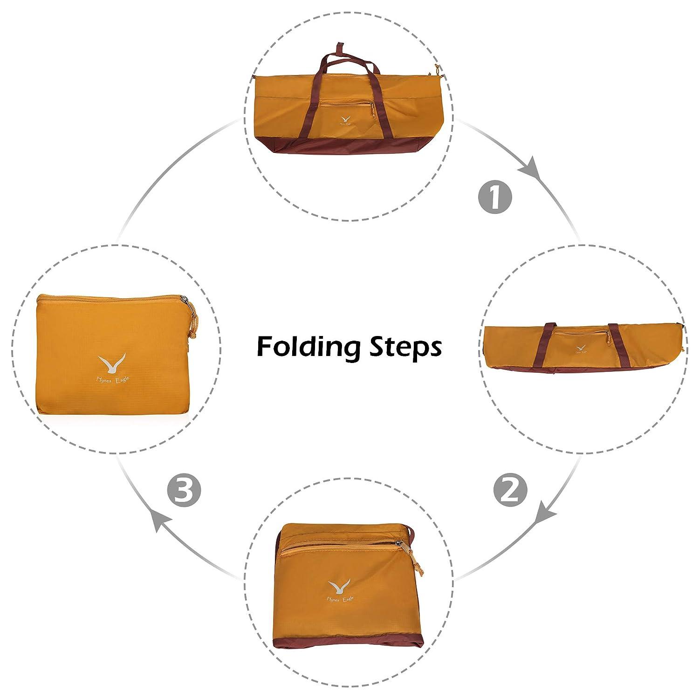 Hynes Eagle 35L Travel Duffel Bag Foldable Sports Duffels Gym Bag Outdoor Weekender Bag for Men and Women Army Green