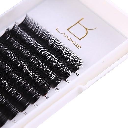 Eyelash Extension D Curl 0.15mm Flat Individual Lash Extensions Mixed Tray Black Volume Eyelash Extension Supplies Salon Perfect Use By Lk Lankiz. by Lk Lankiz