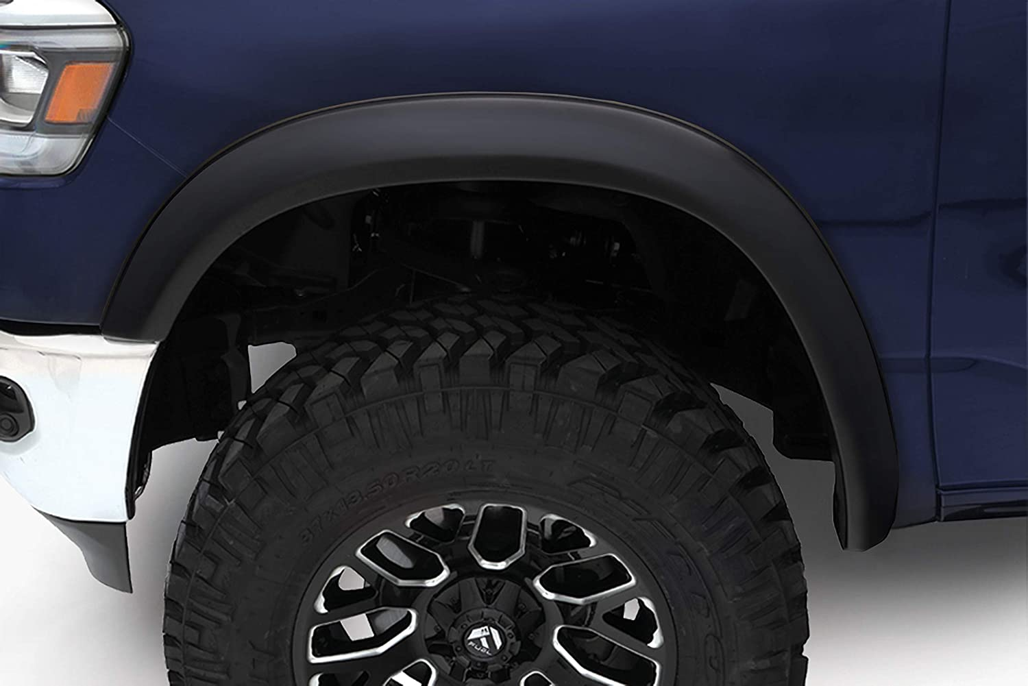 Bushwacker 50928-02 Black OE-Style Smooth Finish 4-Piece Fender Flare Set for 2019 Ram 1500 Excludes Rebel