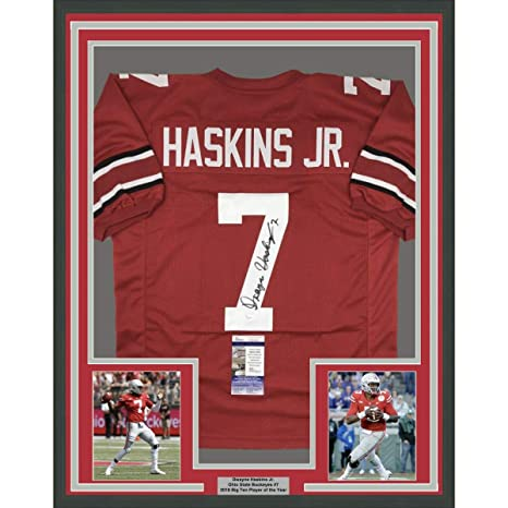 new styles c37c3 5fad2 Framed Autographed/Signed Dwayne Haskins Jr. 33x42 Ohio ...