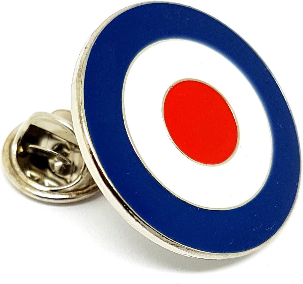 Target Enamel Pin Badge Mod RAF Vespa Motorcycle