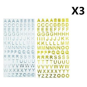 HighMount Purpurina Letras Número 6 Hojas Pegatinas, el Color sólido ...