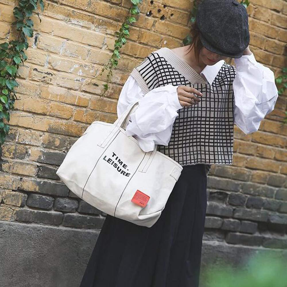 New Casual Large Capacity Shoulder Messenger Bag,White MYF/&GBB Canvas Shoulder Bag