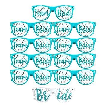 10 piezas Novia y equipo de novia diseño de gafas de sol ...