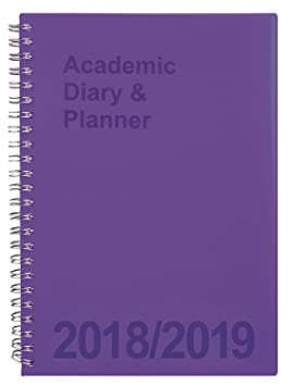 ac09857c1592 Tiger Academic Diary 2018-2019 Purple A5 Week-To-View  Amazon.co.uk ...