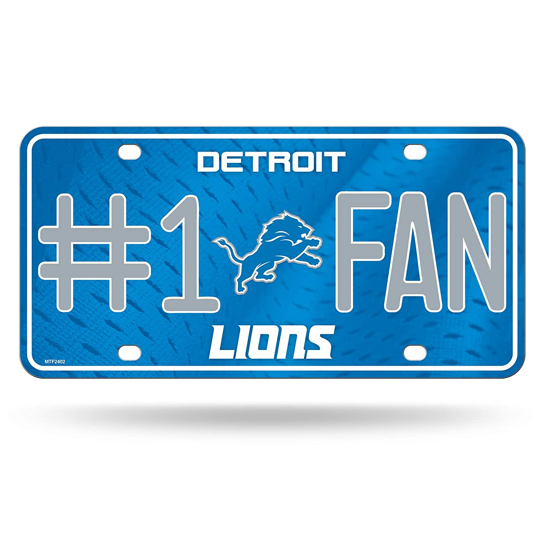 NFL Detroit Lions #1 Fan Metal License Plate Tag