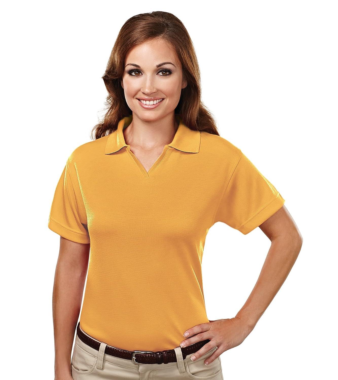 Tri-Mountain Women's 7.7 oz. 100% Spun Polyester Micromesh Polo Shirt - 104 Ambition