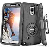 Note 4 Case, Galaxy Note 4 Case, BENTOBEN Shockproof Heavy Duty Protection Hybrid Rugged Samsung Galaxy Note 4 Case Rubber Bu