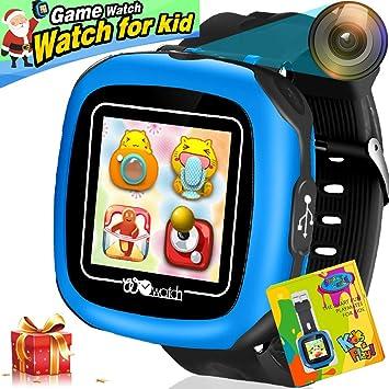 Reloj Inteligente Pantalla táctil Niños Game Smartwatches Función de cámara Pedómetro Calculadora Función de Alarma Función