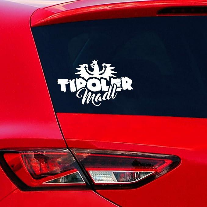 Tiroler Madl Auto Aufkleber Tirol Autoaufkleber Sticker Adler Wappen Auto
