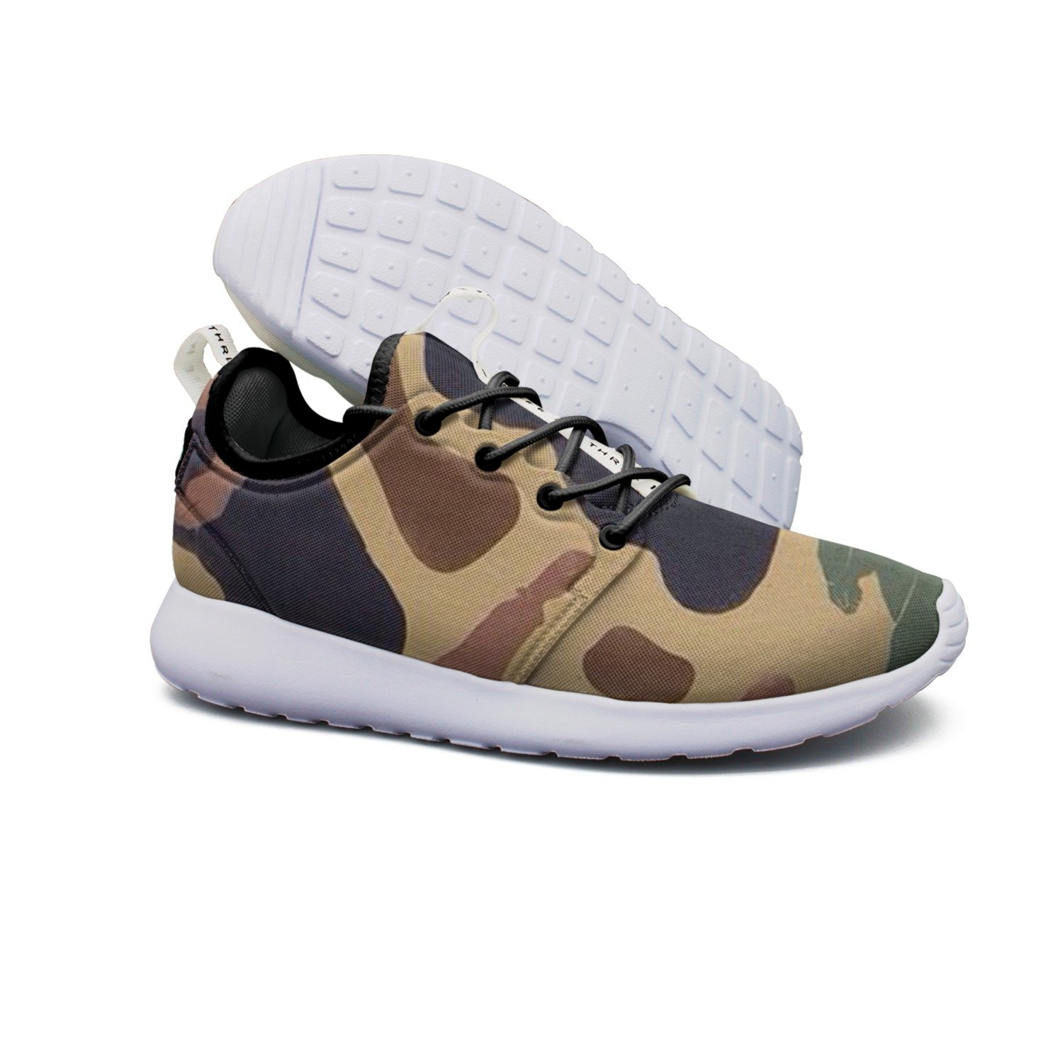 Lightweight Shoe Brown Camouflage Breathable Mesh Running Shoes