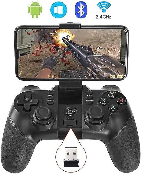 Auimi - Mando inalámbrico para Videojuegos, 2,4 G, Bluetooth, para teléfonos Android, Ventanas de PC, tabletas, Smart TV, TV Box, PS3 y Android: Amazon.es: Electrónica
