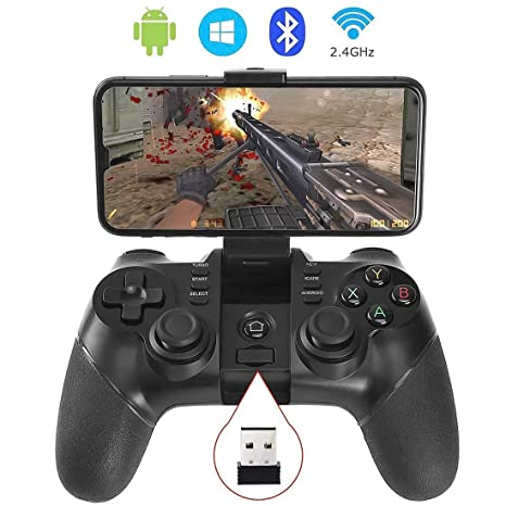 Auimi 2 4G Wireless Game Controller Bluetooth Gaming Gamepad Joystick for  Android Phone/ PC Windows/ Tablet/ Smart TV/ TV Box/ PS3 - Android