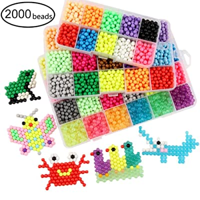 Anpay DIY Insurance Magic Bead Toy for Children 2000/4000 Pieces, Animal Mold Jigsaw Magic Bead, Handmade Educational Children's Toy: Arts, Crafts & Sewing