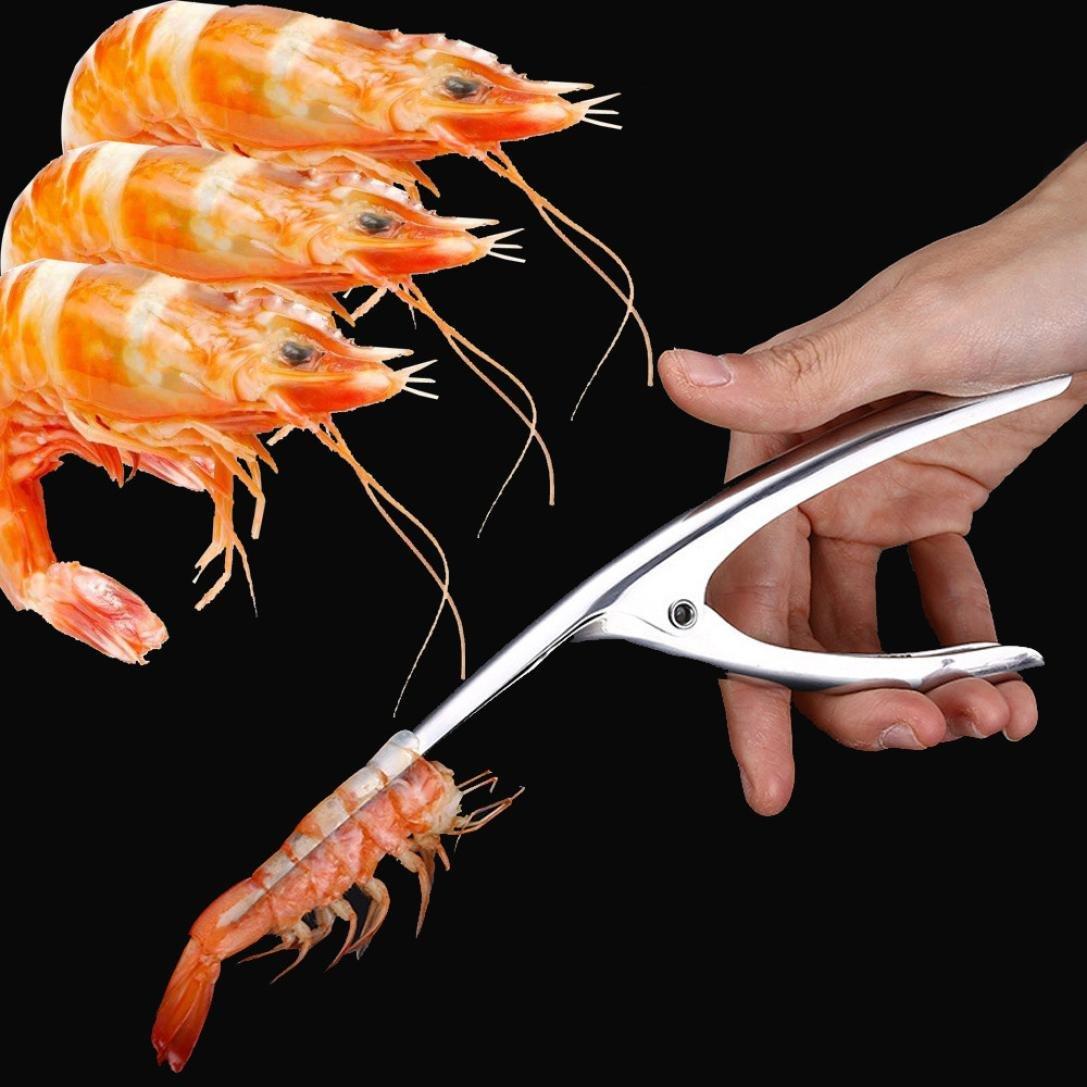 LiPing Stainless Steel Shrimp Sheller Shrimp Deveiner Cleaner Device Creative Kitchen Tools
