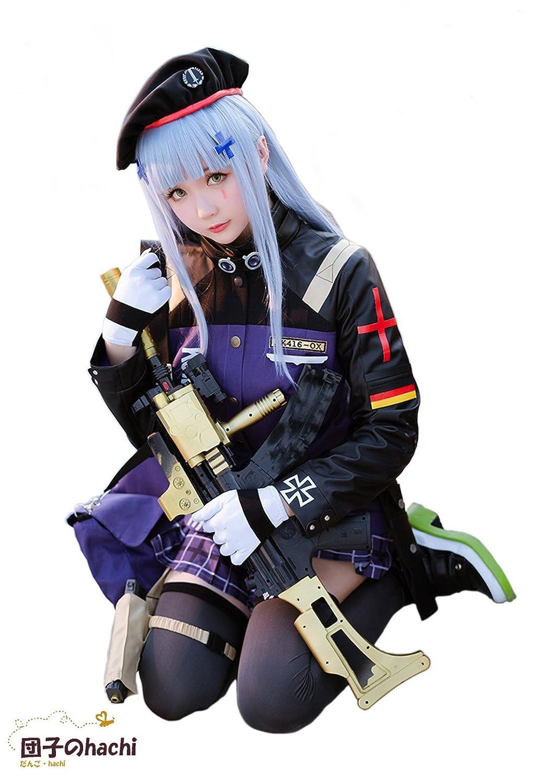 団子のhachi 少女前線 5星 HK416 AR AR小隊 コスプレ コスチューム 超豪華 10点セット ウイッグと専用ショルダーバッグ追加可能 (服+バッグ(L)) B07FSDKKL4 服+バッグ(L)  服+バッグ(L)