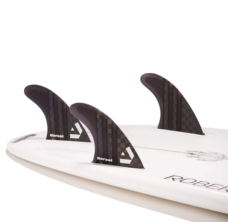 Dorsal Carbon Hexcore Thruster Future Surf Fins Black Medium