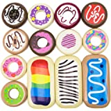 Baker's Dozen Wooden Donuts, 13 Assorted Colorful Wood Eats! Pastries by Imagination Generation