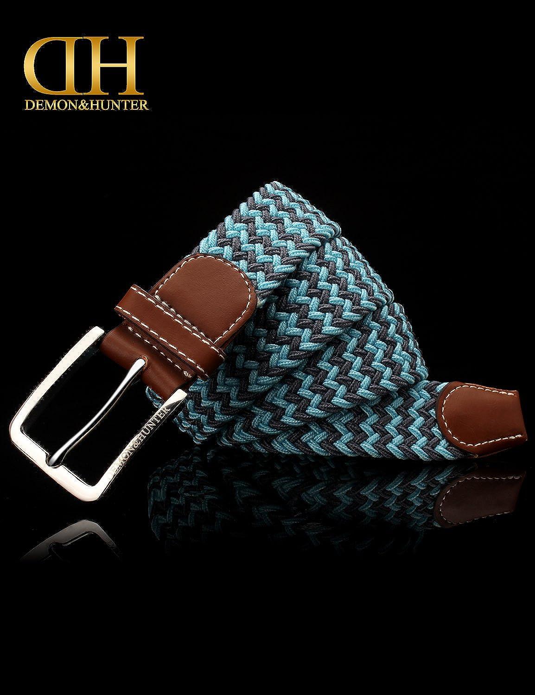 Demon/&Hunter BZA Series Mens Two Colors Wavy Woven Belt