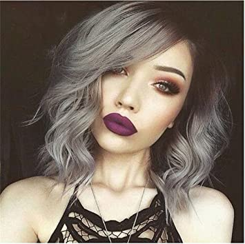 Amazoncom Cool2day Grey Ombre Wig 1bgray Synthetic Wig Wave