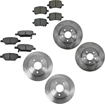 Full Kit Black Drilled Brake Rotors /& Ceramic Brake Pads Durango,Grand Cherokee