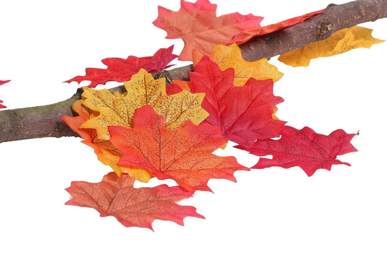 Artificial Fall Autumn Maple Leaves Kioneer Multicolor Silk Leaf for Party, Wedding & House Decoration (Green200Pcs)