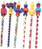 Pencil Finger Fidget Toppers with Pencils (Set of 6 Assorted)