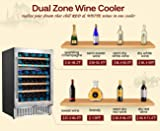 Aobosi 24'' Wine Cooler Dual Zone 51 Bottle Wine