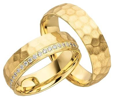 2 X 585 Gold Eheringe Partnerringe Trauringe Hochzeitsringe In