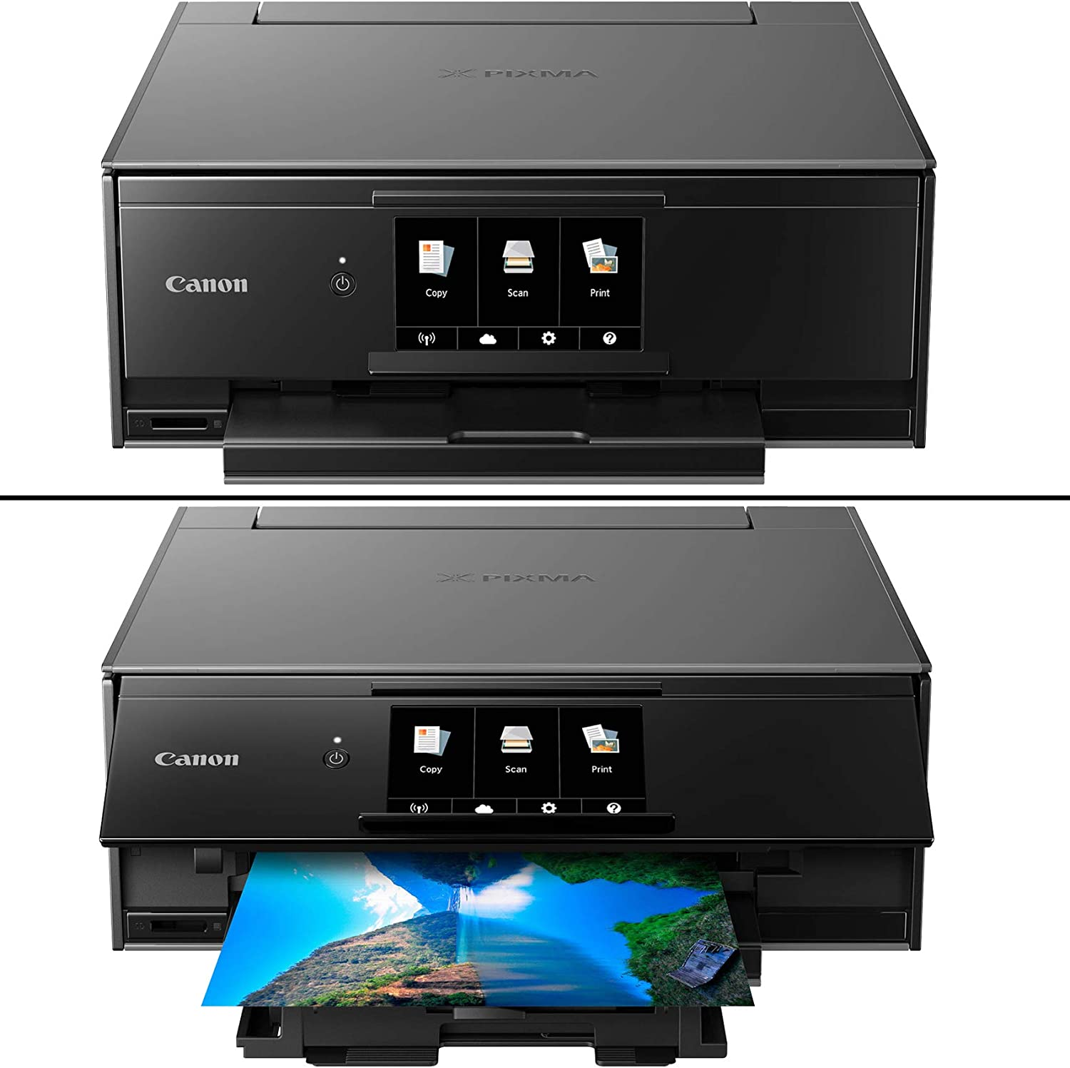 Canon Pixma TS9120 Wireless Inkjet All-in one Printer (Gray) with Scan, Copy, Mobile Printing, Airprint & Google Cloud + Set of Ink Tanks + Photo ...