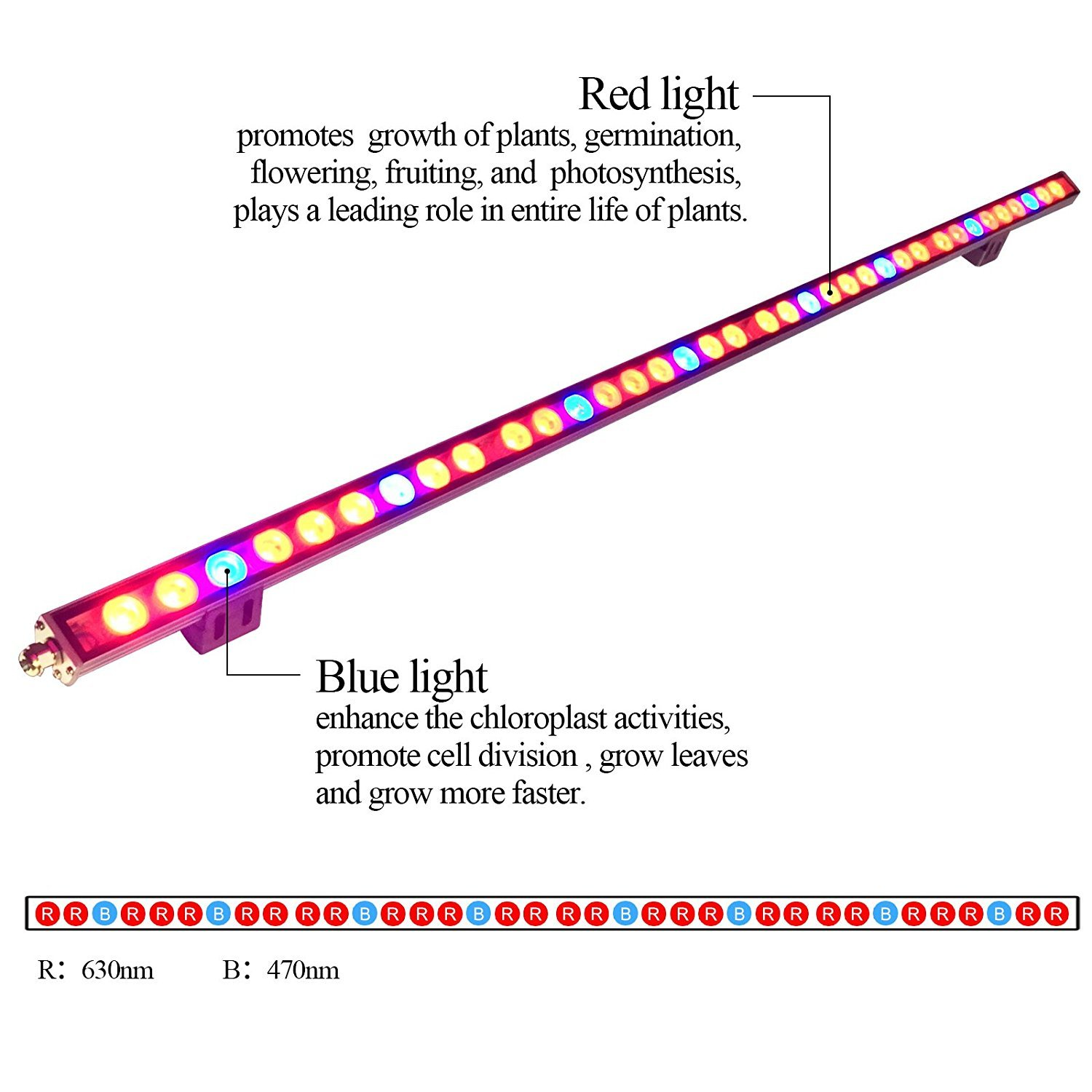 Amazon galaxyhydro led grow plant light waterproof 108w led amazon galaxyhydro led grow plant light waterproof 108w led grow light bar with red blue spectrum for hydroponic indoor plants growing garden parisarafo Choice Image