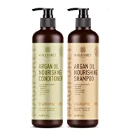 Argan Oil Shampoo and Conditioner Set (2 x 16.9 Oz) - MagiForet Organic Shampoo...