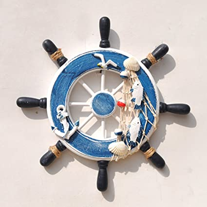 Amazoncom Chezmax Nautical Wooden Ship Wheel Nautical Boat Ship