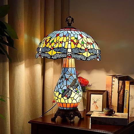 GYLTFL Tiffany lamparas de Mesa,Lámpara de vitral Tiffany para ...