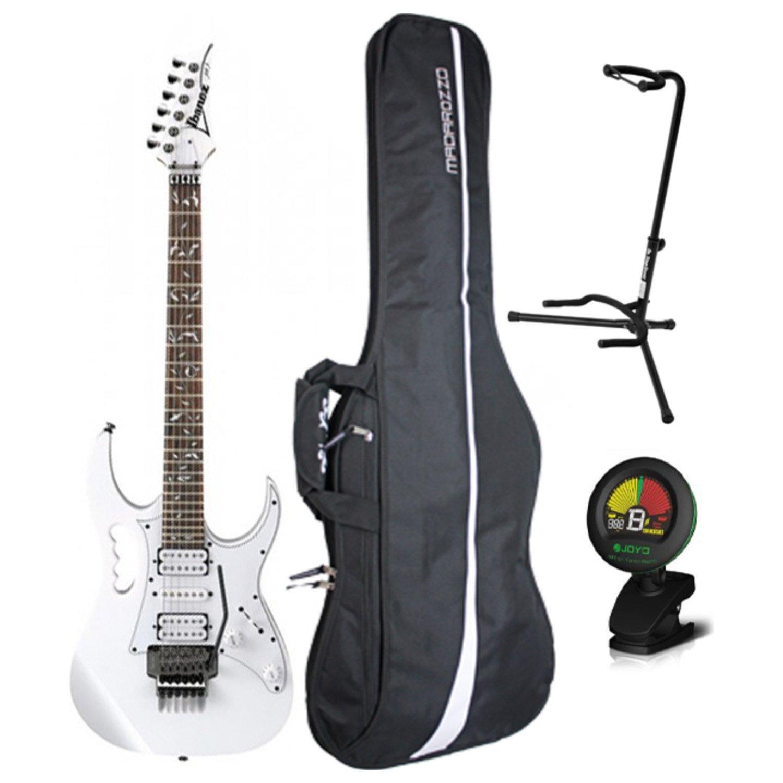 Ibanez Steve Vai Jem Jr Blanco Tamaño Completo Guitarra Eléctrica W/Gig Bag, sintonizador, y soporte: Amazon.es: Instrumentos musicales