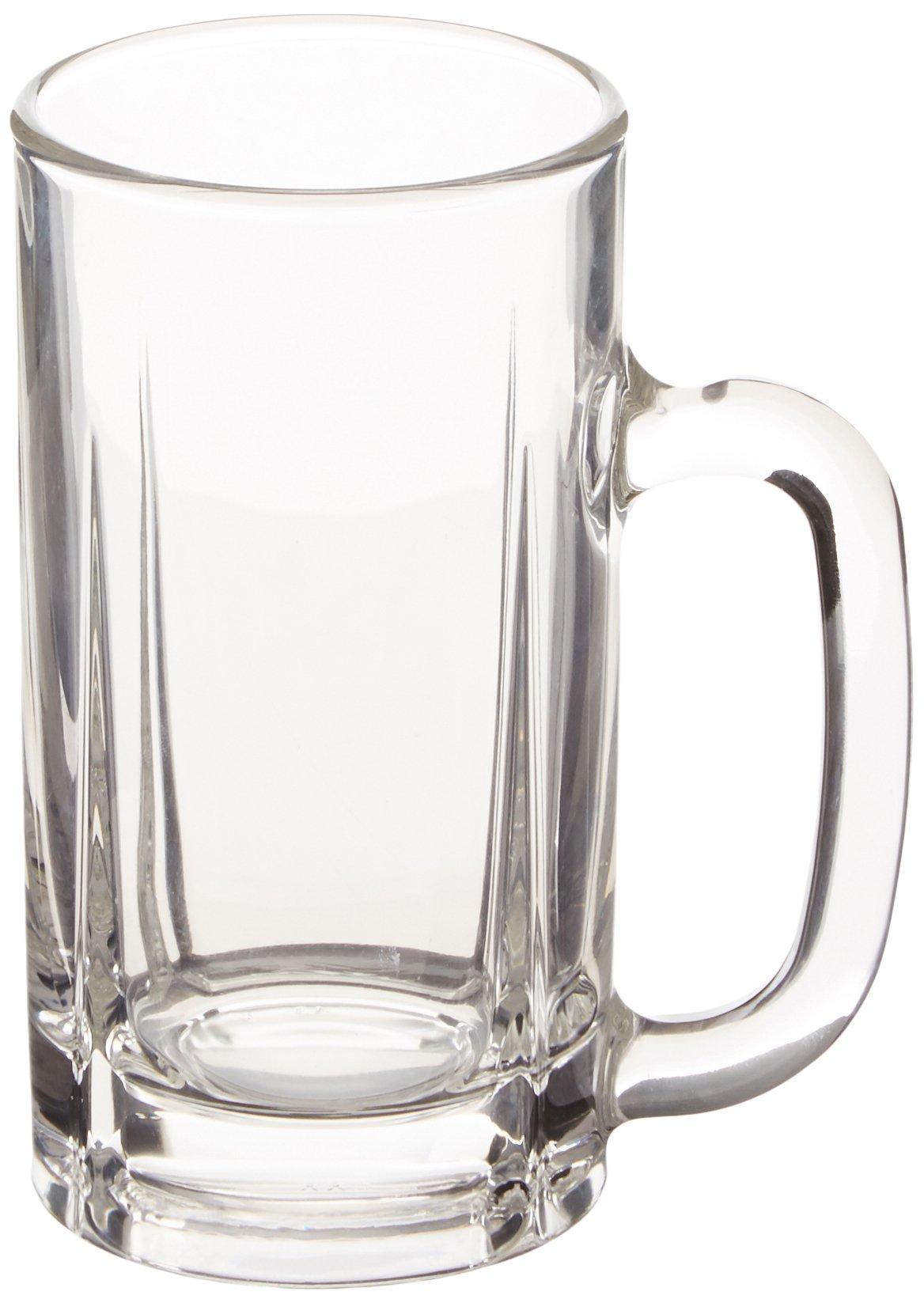 Mikasa Brewmaster's Traditional Glass Beer Mug, 16-Ounce, Set of 4 Mugs