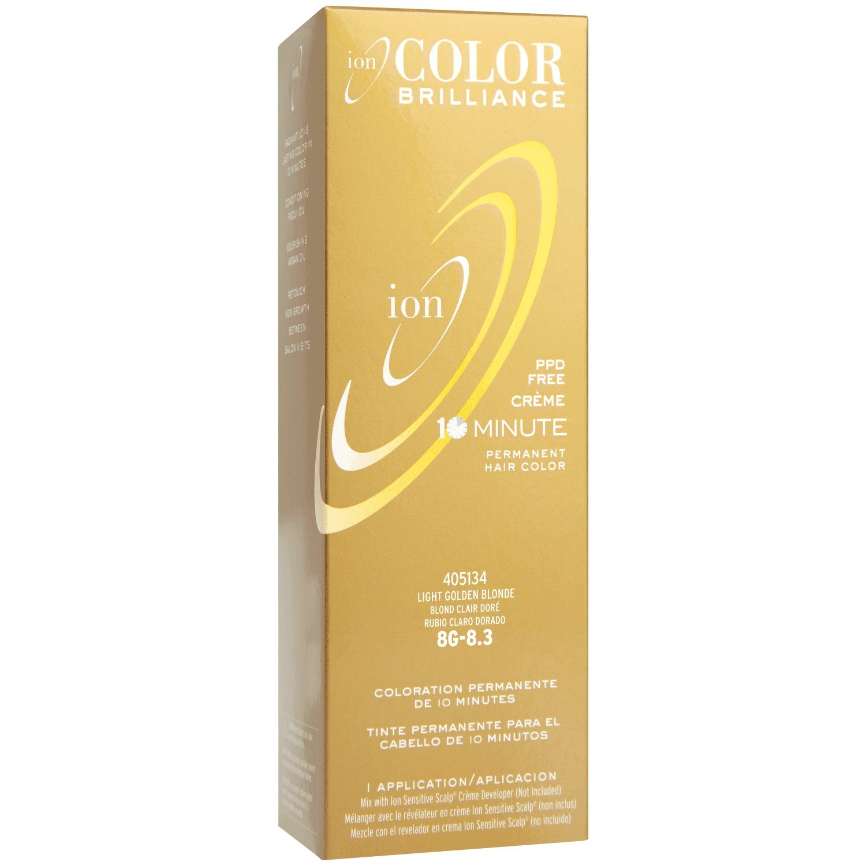 Ion 8g Light Golden Blonde Permanent Creme Hair Color 8g Light Golden Blonde