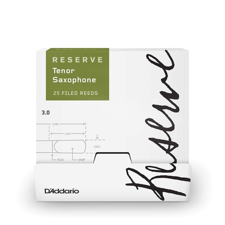 5-pack DAddario Reserve Tenor Saxophone Reeds Strength 3.0