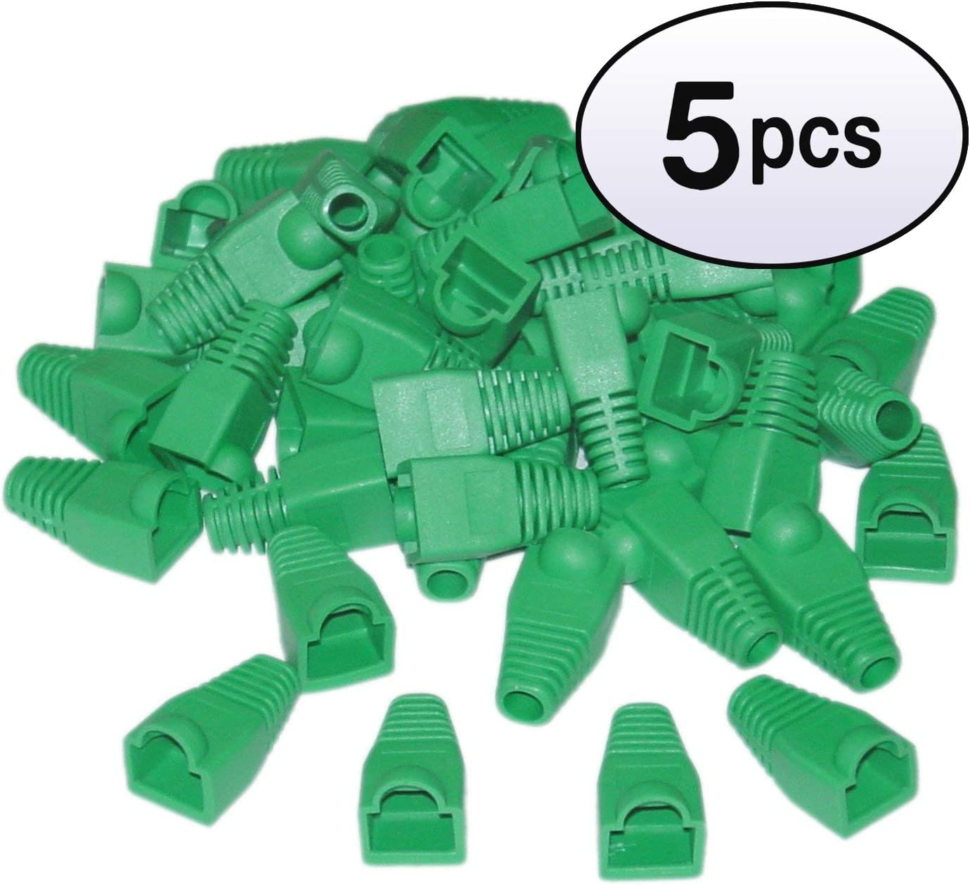GOWOS 5 Pack Green 50 Pieces Per Bag RJ45 Strain Relief Boots