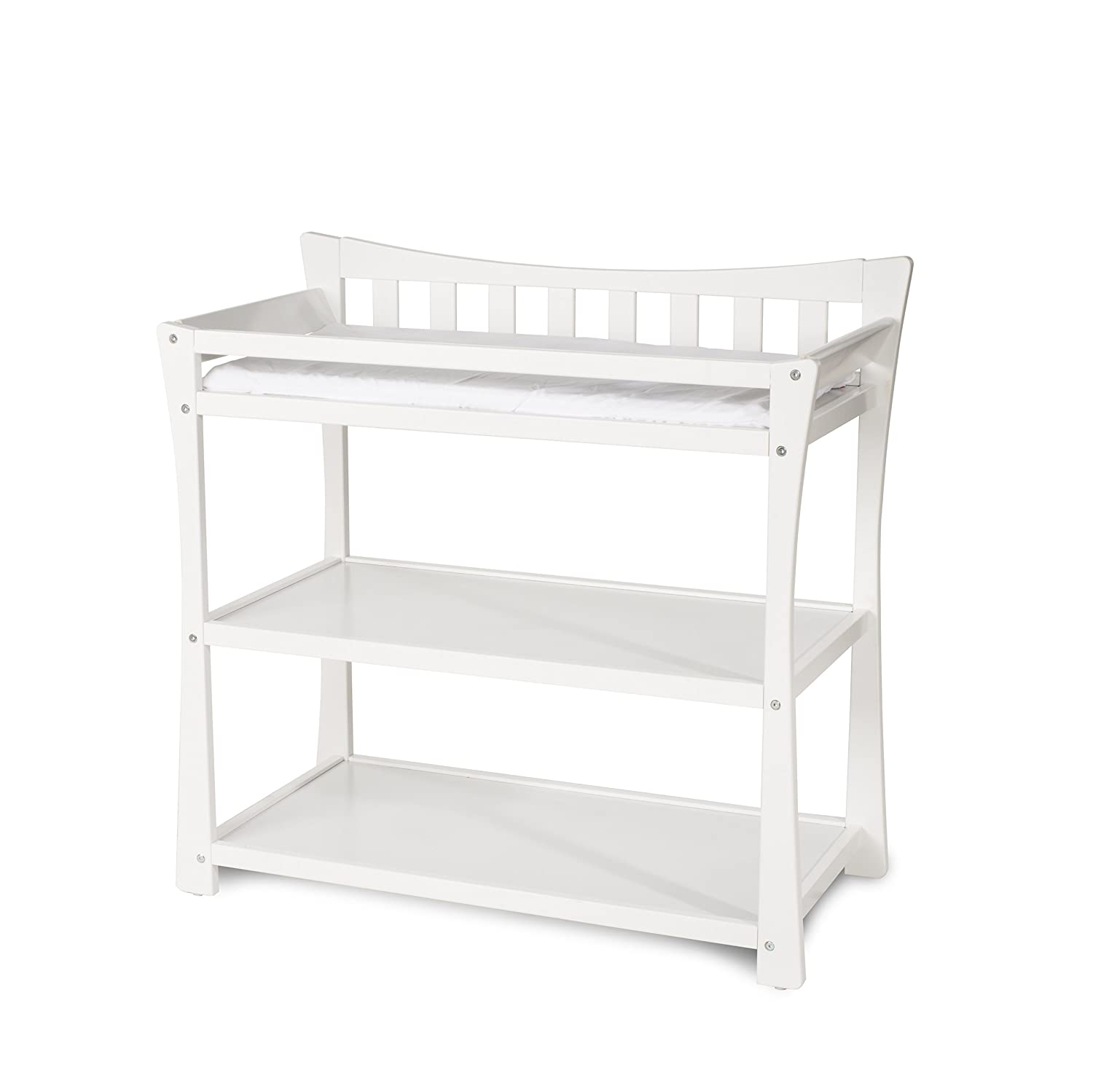 Child Craft Parisian Changing Table with Pad, Cool Gray F02316.87