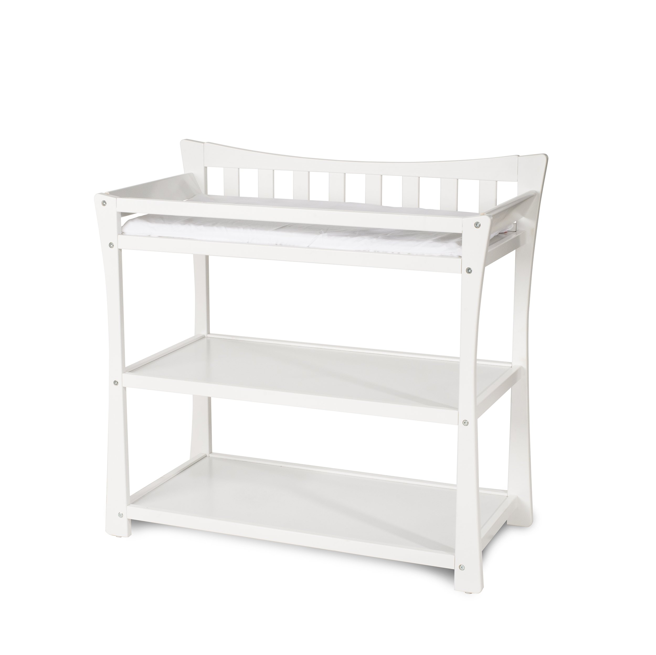 Child Craft Parisian Changing Table with Pad, Matte White