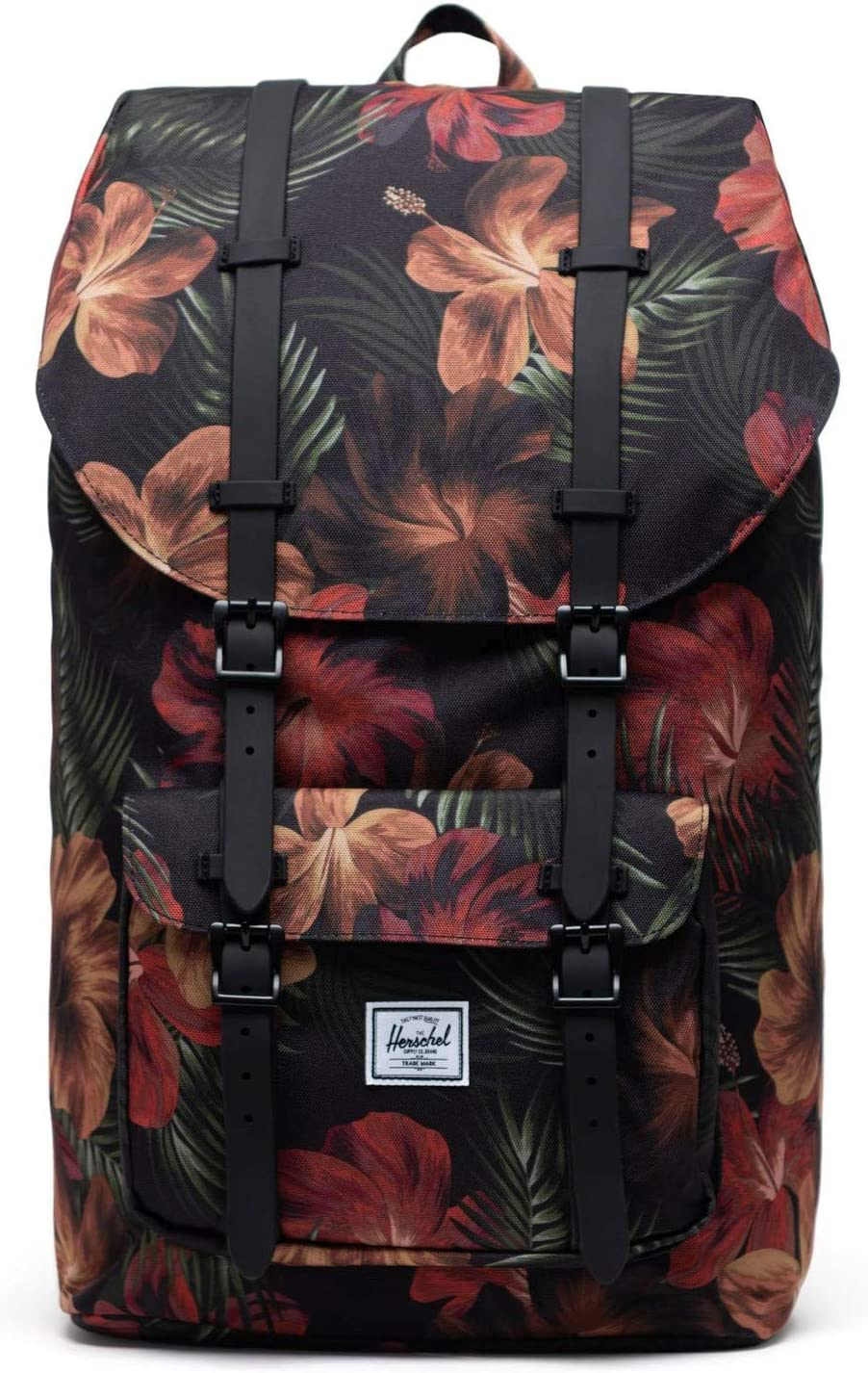 Herschel Little America Laptop Backpack, Tropical Hibiscus, Classic 25.0L