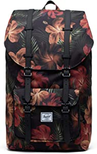 Herschel Little America Laptop Backpack, Tropical Hibiscus, Classic 25.0L