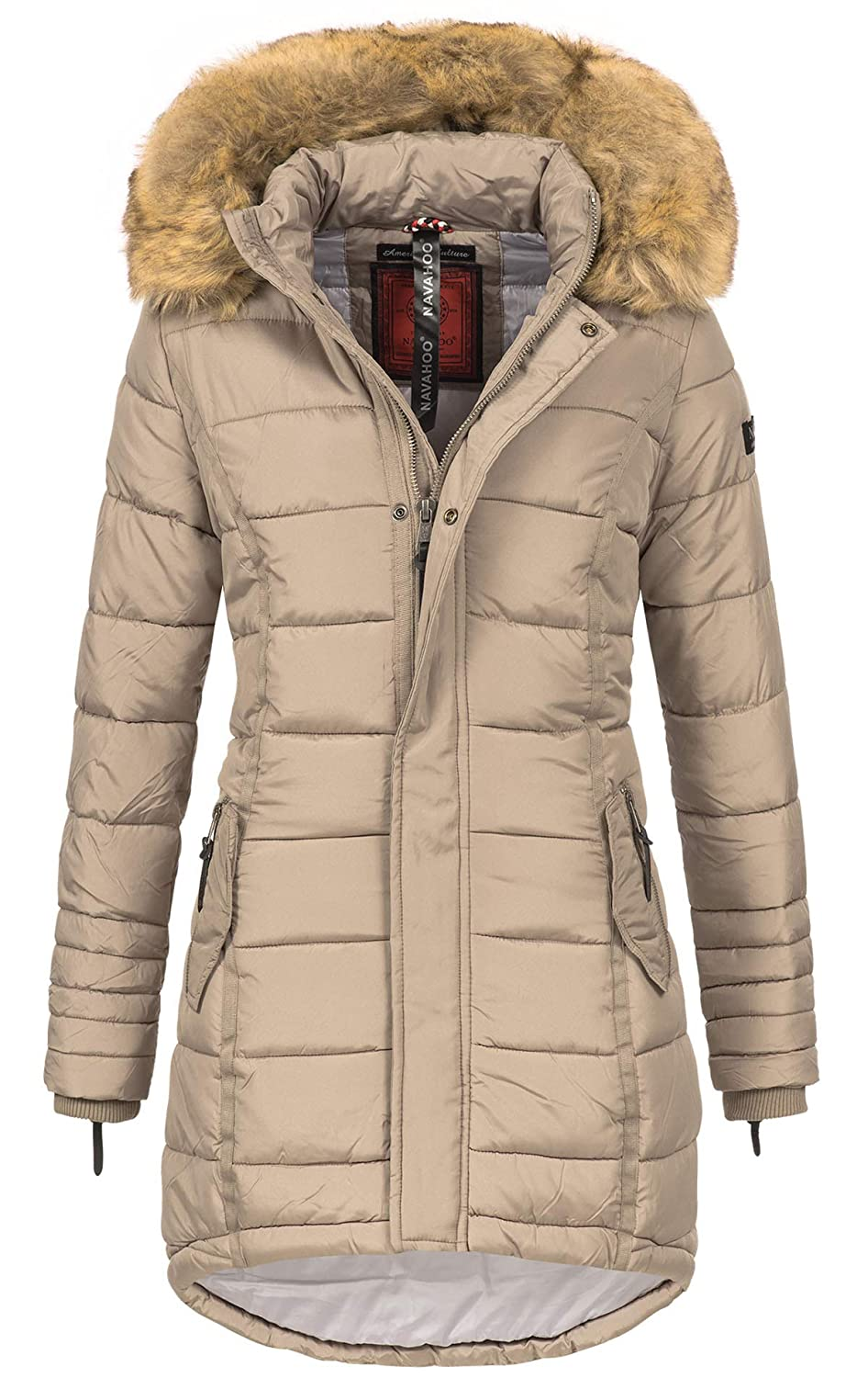 56b0b79b4381 Navahoo Papaya Damen Winter Jacke Steppjacke Mantel Parka gesteppt warm B374