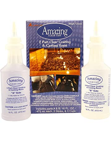 Amazing Casting Products 10591 Clear Resin,Includes parts A & B; 16 FL.