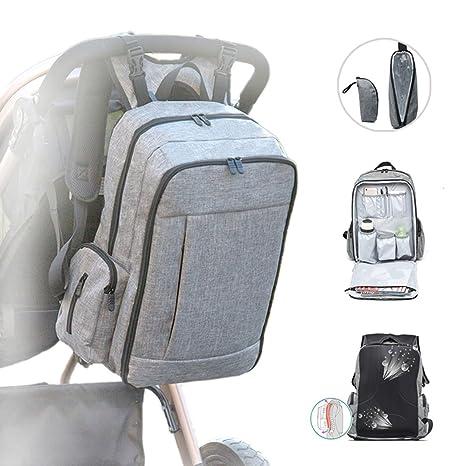 Levo Montaña bolso cambiador Mochila, mochila para pañales grande multifuncional cochecito Bolsa para pañales Mochila