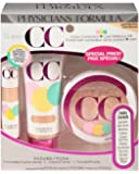Physicians Formula Super CC Color-Correction and Care Makeup Kit, Light/Medium, 1.64 Ounce
