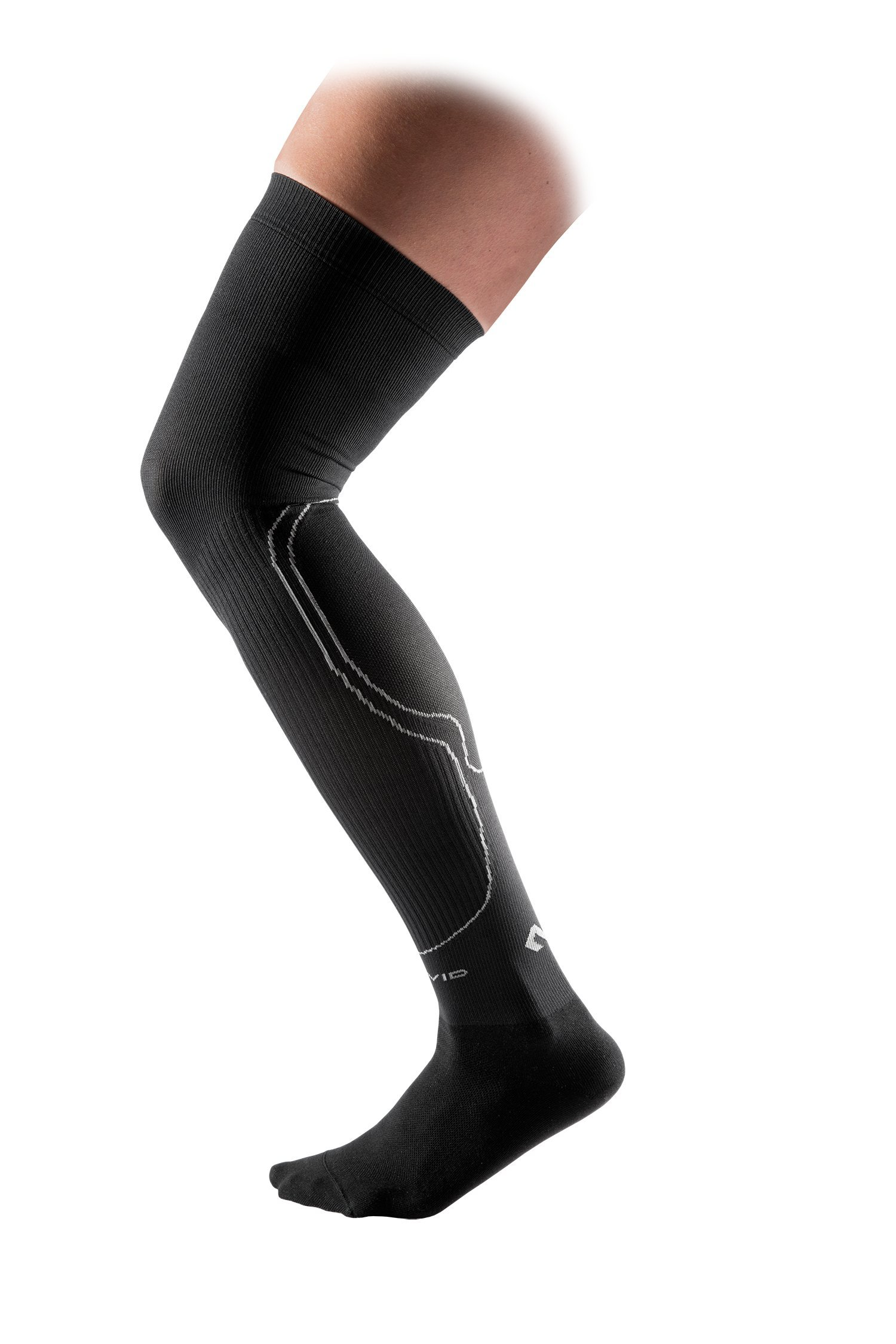 McDavid Mid-Thigh Rebound Compression Socks , Black, Medium by McDavid